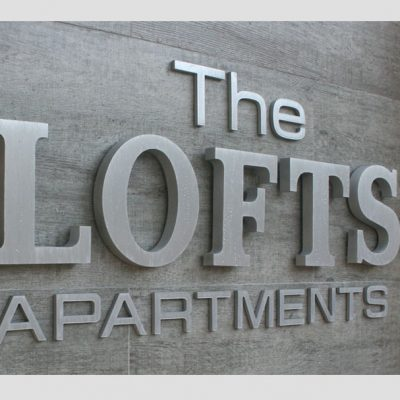 dimensional letters & logos routed sign